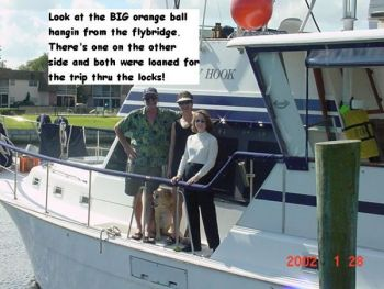 Big Balls or Moon River aboard a Gulfstar 44 Motor Cruiser