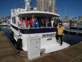 Integrity 49 Trawler at TrawlerFest University Building Cruising Confidence