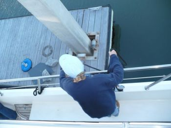 Be ready to deploy your lines without any help on the dock...and NO jumping please!