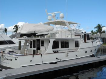 Trawler Training on a Fleming 55 in Fort Myers Florida