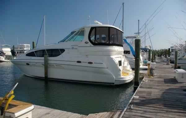 Vessel Type / Length – Sea Ray 390 Motor Yacht Cruising speed – 24 knots. Engine type / Horsepower – Twin Cummins 450 HP Starting location – Fort Pierce, FL