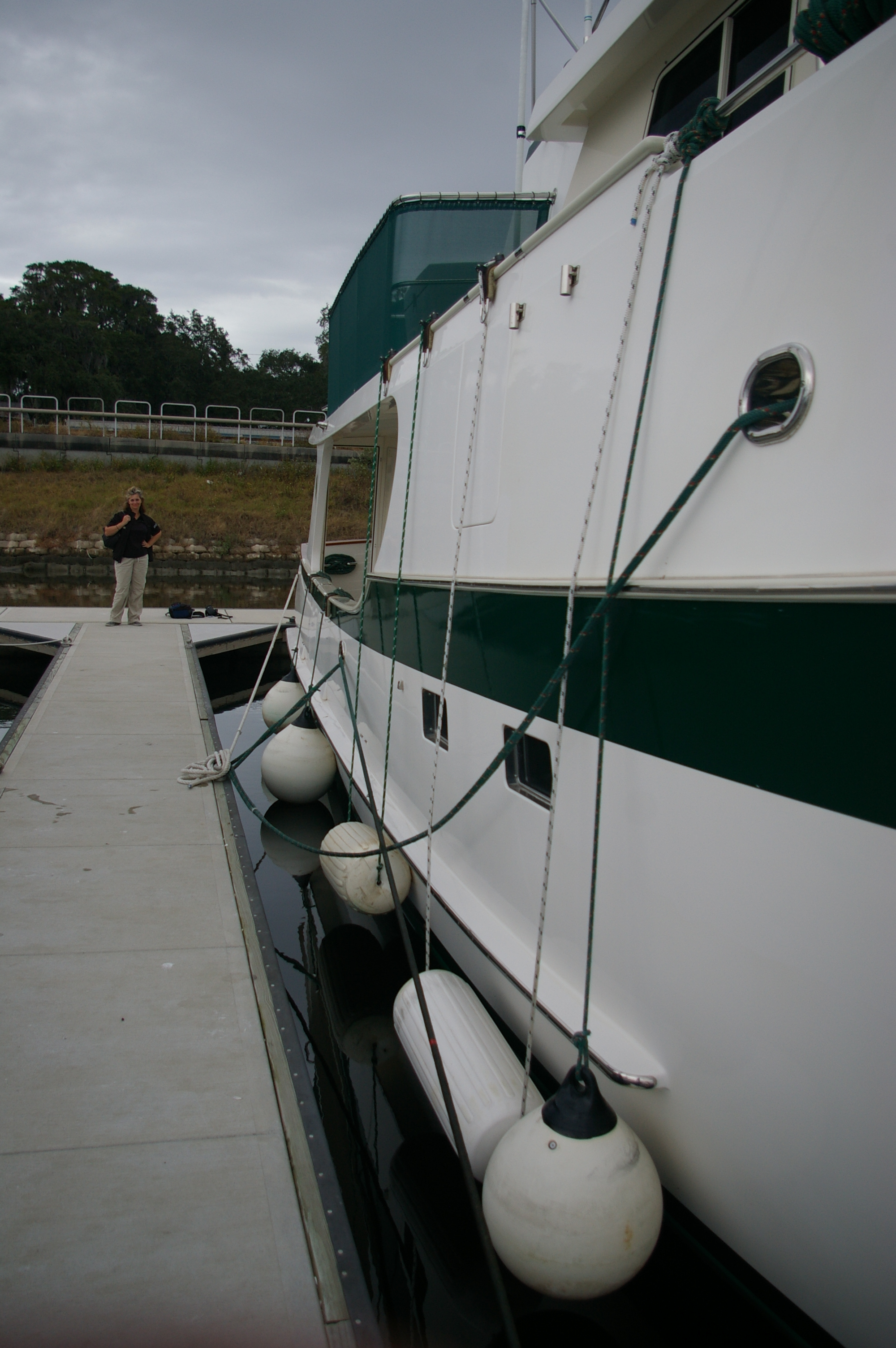 Docking With Fender Boards